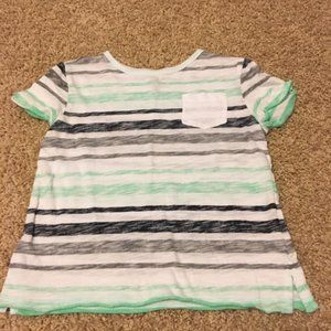 Young Boys Striped T with Pocket